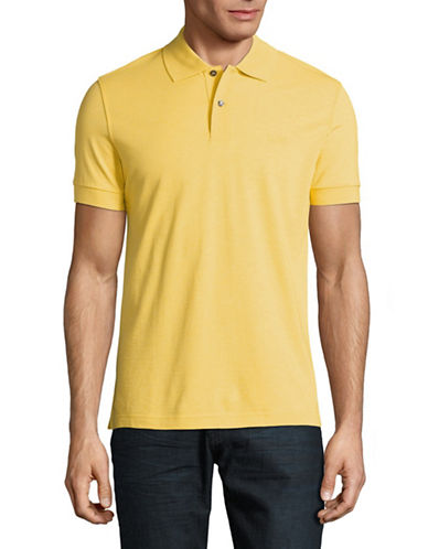 Boss Green Pique Polo-YELLOW-X-Large