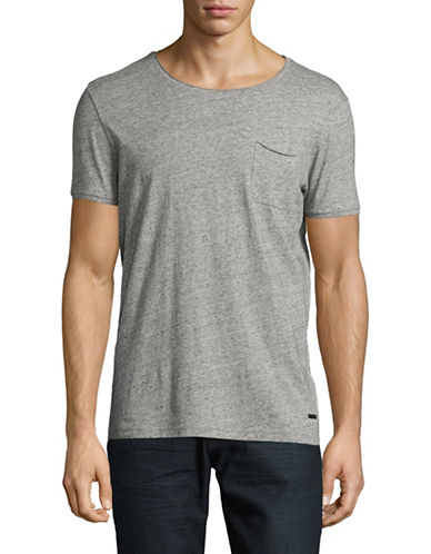 Boss Orange Thankful T-Shirt-GREY-Small