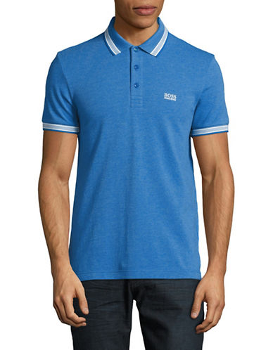 Boss Green Paddy Regular-Fit Pique Polo-BLUE-X-Large