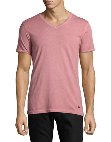 Boss Orange V-Neck T-Shirt-PINK-Medium