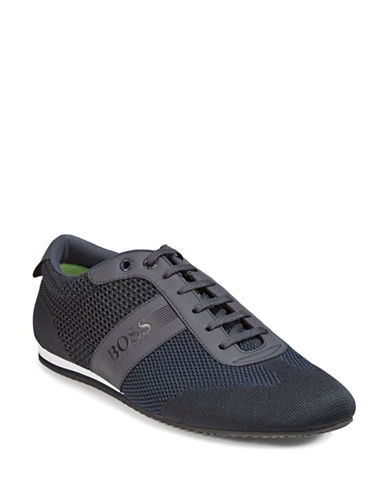 Boss Green Lighter Low Profile Knit Sneakers-DARK BLUE-11