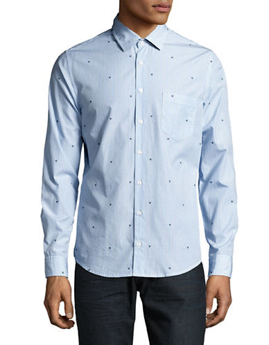 Boss Orange Epop Printed Sport Shirt-LIGHT BLUE-Medium