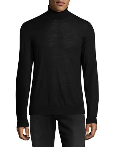 Hugo San Antonio Wool-Blend Turtleneck-BLACK-X-Large