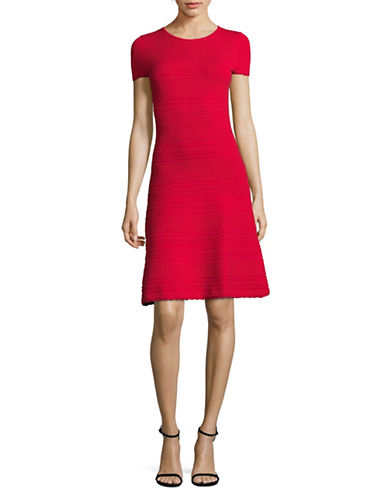 Hugo Shaya Sweater Dress-RED-X-Small
