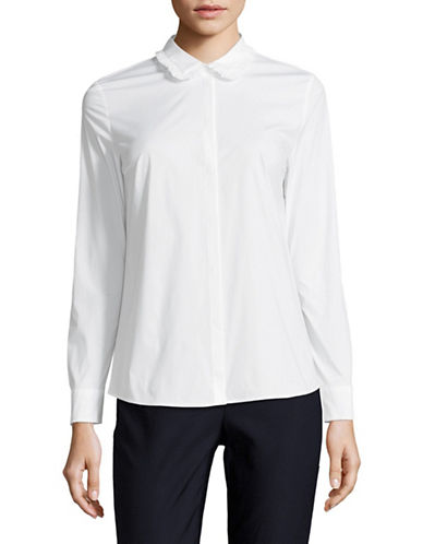 Hugo Ruffle Collar Shirt-WHITE-EUR 42/US 10