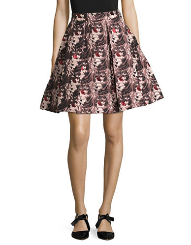 Hugo Rizalia Cat Jacquard Skirt-MULTI-EUR 42/US 10