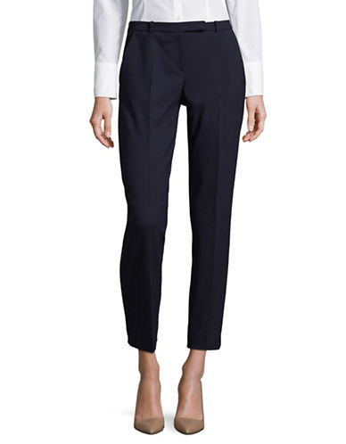 Hugo Harile Stretch-Cotton Pants-BLUE-EUR 36/US 4
