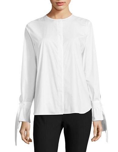 Hugo Enetta Tie-Sleeve Shirt-WHITE-EUR 40/US 8