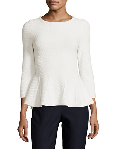 Hugo Silvine Peplum Top-NATURAL-Medium