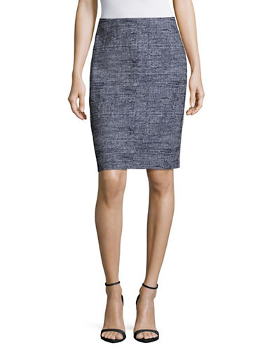 Hugo Ridina Techno Tweed Skirt-BLUE-EUR 40/US 8