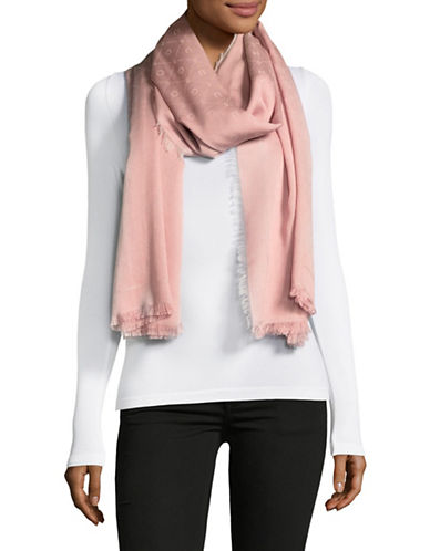 Hugo Women-Z Monogram Scarf-PINK-One Size