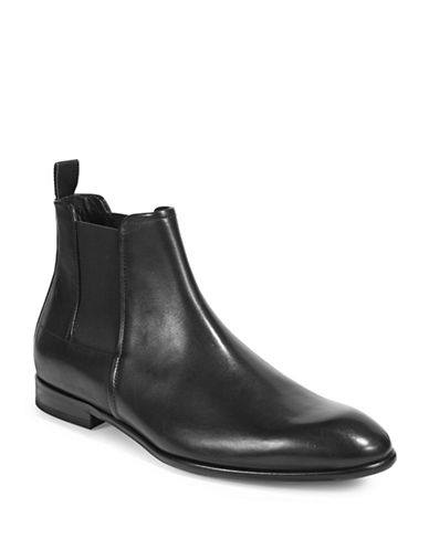 Hugo Polished Chelsea Boots-BLACK-9