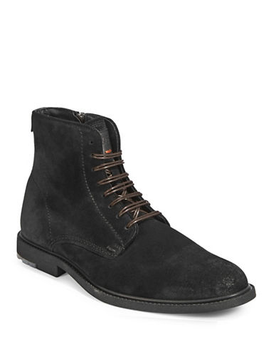 Boss Orange Monochrome Suede Boots-BLACK-10