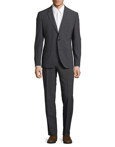 Hugo Textured Wool Suit-GREY-46