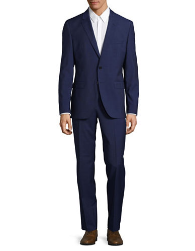 Hugo C-Jeffery Two-Piece Wool Suit-BLUE-38