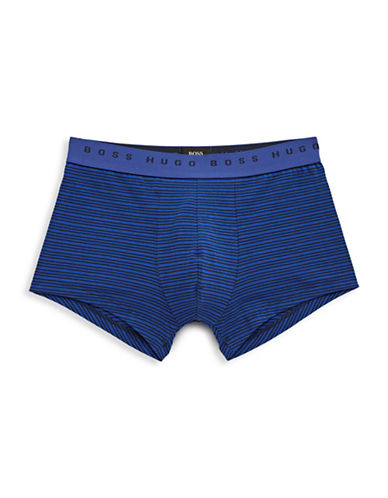 Boss Trunk Stripe Boxer Briefs-BLUE-Large