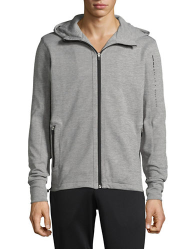 Boss Zip-Up Hoodie-GREY-Large