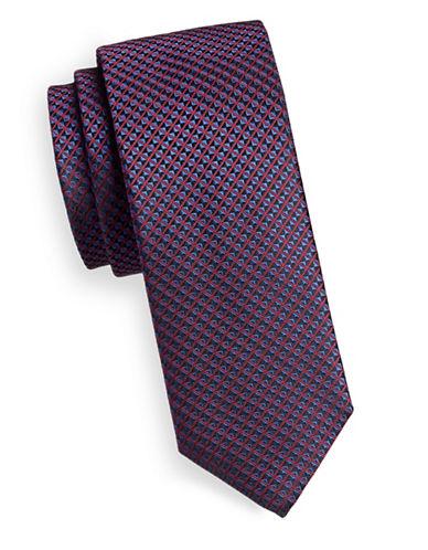 Hugo Bevel-Print Silk Tie-RED-One Size