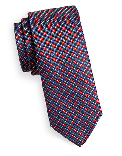 Hugo Dot Array Silk Tie-RED-One Size