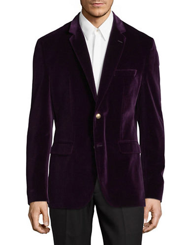 Hugo Jeys Velvet Suit Jacket-DARK PINK-42