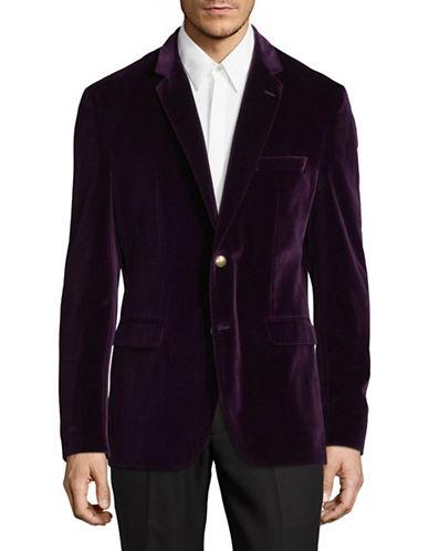 Hugo Jeys Velvet Suit Jacket-DARK PINK-44