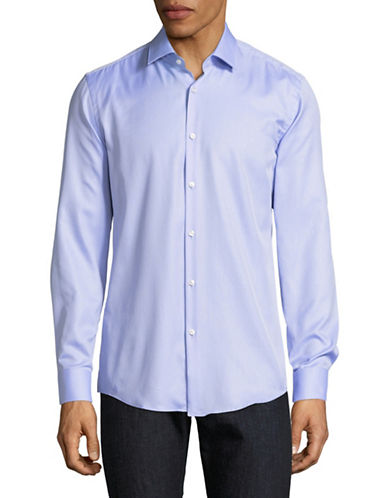 Hugo C-Jenno Textured Solid Shirt-BLUE-EU 42/US 16.5
