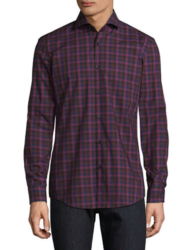 Hugo C-Jenno Check Shirt-RED-EU 38/US 15