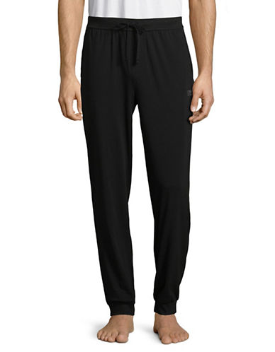 Boss Stretch Cotton Long Pants-BLACK-Small