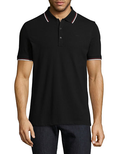 Hugo Dasto Slim-Fit Mirror Logo Polo-BLACK-Large