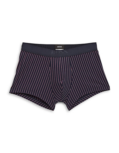 Boss Pinstripe Stretch-Fit Trunks-DARK BLUE-Medium