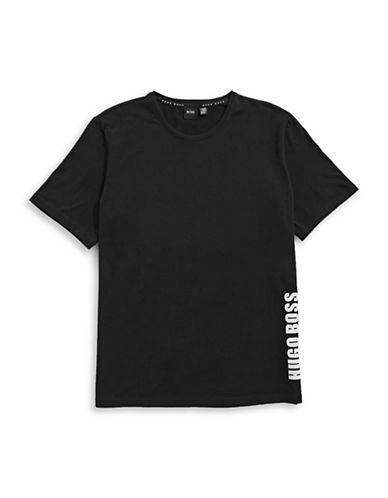 Boss Crew Neck Logo T-Shirt-BLACK-Medium
