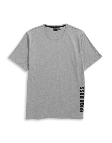 Boss Crew Neck Logo T-Shirt-MEDIUM GREY-Medium