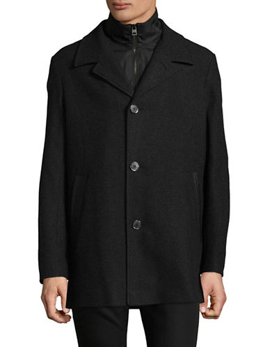 Hugo Barelto Overcoat-BLACK-X-Large