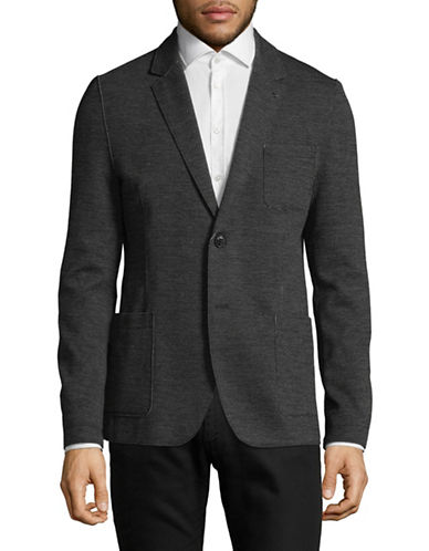 Hugo Agalto Wool-Blend Sport Jacket-GREY-46
