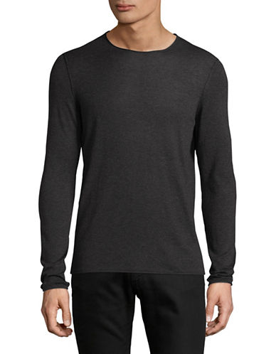 Boss Orange Slim-Fit Long Sleeve T-Shirt-GREY-Medium