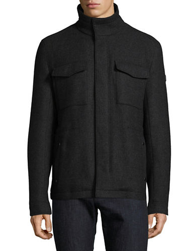 Boss Orange Ofalcon Wool-Blend Fill Coat-BLACK-36