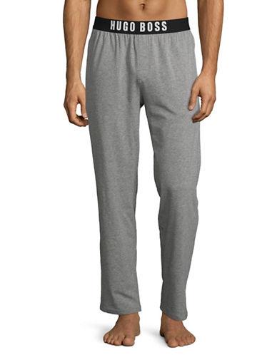 Boss Logo Band Pyjama Pants-MEDIUM GREY-Small