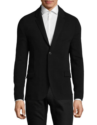 Hugo Azonto Wool-Blend Sport Jacket-BLACK-46