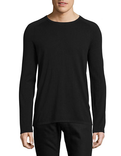 Hugo Raglan Sleeve Sweater-BLACK-Large