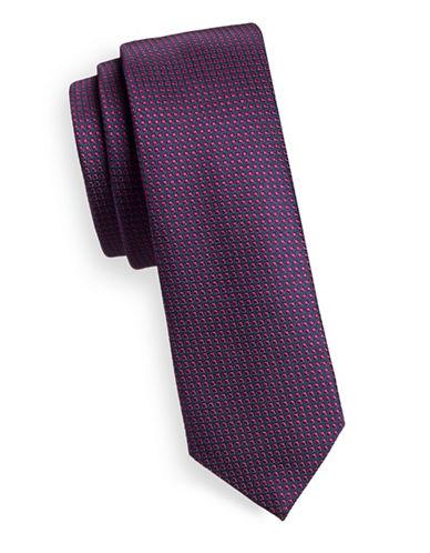 Hugo Slim Square Dot Silk Tie-PINK-One Size