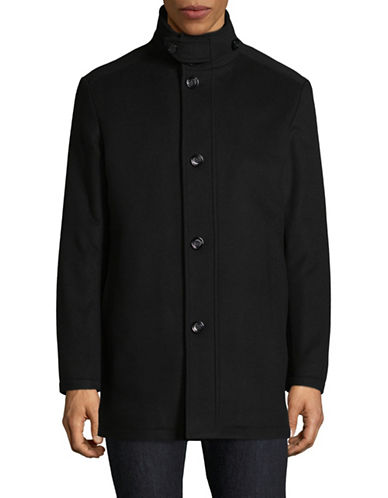 Boss Green C-Coxtan Wool-Cashmere Coat-BLACK-36