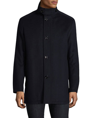 Boss Green C-Coxtan Wool-Cashmere Coat-NAVY-40