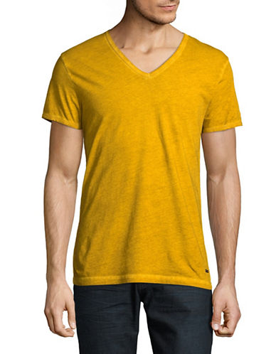 Boss Orange Toulouse Cotton T-Shirt-YELLOW-Medium