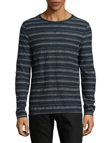 Boss Orange Striped Long-Sleeve Top-BLUE-X-Large