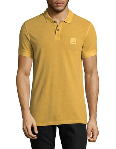 Boss Orange Pascha Slim-Fit Polo Shirt-YELLOW-Medium