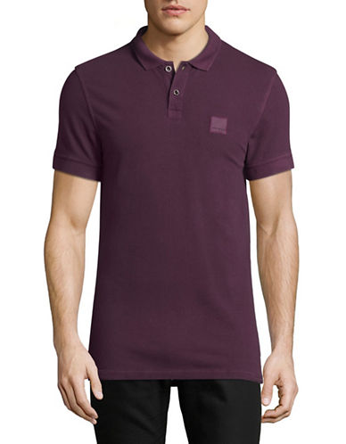 Boss Orange Pascha Slim-Fit Polo Shirt-DARK RED-Medium
