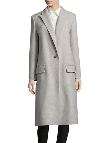 Hugo Exposed Seam Wool Coat-GREY-EUR 34/US 2