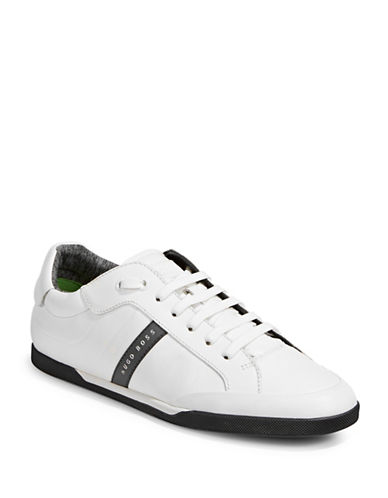 Boss Green Shuttle Leather Sneakers-WHITE-11