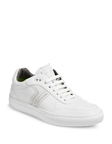 Boss Green Enlighten Leather Sneakers-WHITE-7