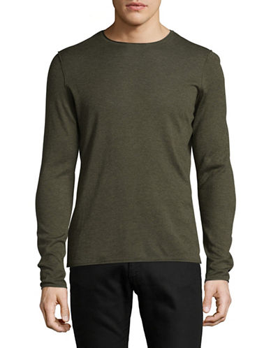 Boss Orange Slim-Fit Long Sleeve T-Shirt-GREEN-Large